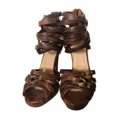 Heeled Sandals CHRISTIAN LOUBOUTIN Brown