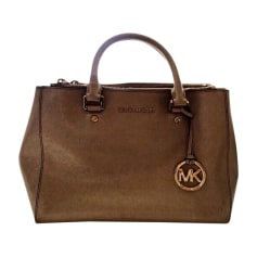 Leather Handbag MICHAEL KORS Golden, bronze, copper