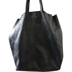 Leather Handbag CÉLINE Bleu foncé