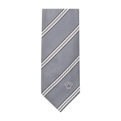 Tie VERSACE Gray, charcoal
