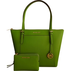 Leather Handbag MICHAEL KORS Green