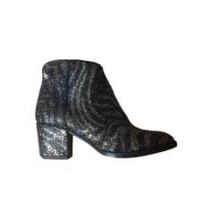 Bottines & low boots à talons ZADIG & VOLTAIRE Doré, bronze, cuivre