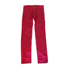 Pantalon slim DOLCE & GABBANA Rouge, bordeaux