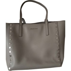 Leather Handbag MICHAEL KORS Gris perle