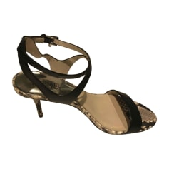 Absatzsandalette MICHAEL KORS Black and python printed leather
