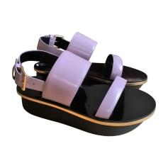 Plateausandalette MARNI Violett, malvenfarben, lavendelfarben