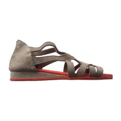 Sandales plates  ARCHE Beige, camel