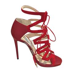 Sandales à talons JIMMY CHOO Rouge, bordeaux