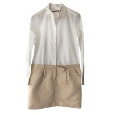 Robe courte COMPTOIR DES COTONNIERS Blanc, blanc cassé, écru
