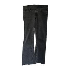 Pantalon évasé BA&SH Gris, anthracite