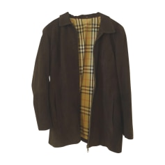 Leather Jacket BURBERRY Brown