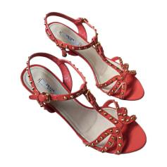 Heeled Sandals PRADA Orange