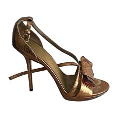 Pumps, Heels BURBERRY Golden, bronze, copper