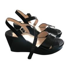 Wedge Sandals PRADA Black