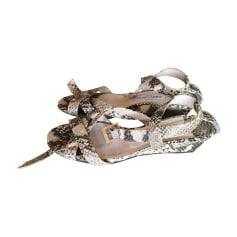 Sandales compensées JIMMY CHOO Imprimés animaliers