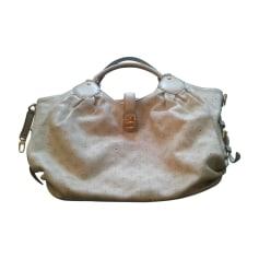 Leather Handbag LOUIS VUITTON White, off-white, ecru