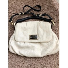 Leather Handbag White, off-white, ecru