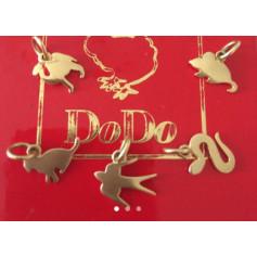 Pendentif, collier pendentif DODO Doré, bronze, cuivre