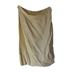 Midi Skirt YVES SAINT LAURENT Yellow