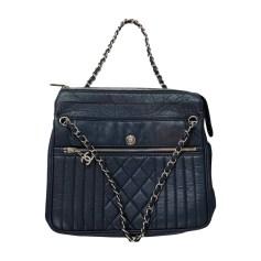 Sac XL en cuir CHANEL Bleu, bleu marine, bleu turquoise