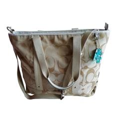 Non-Leather Shoulder Bag COACH Beige, camel