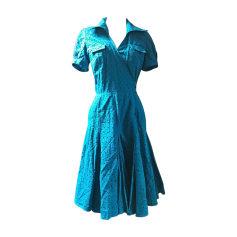 Robe mi-longue DIANE VON FURSTENBERG Bleu, bleu marine, bleu turquoise
