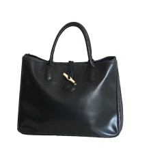 Leather Handbag LONGCHAMP Black
