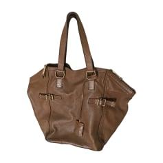 Leather Handbag YVES SAINT LAURENT Beige, camel