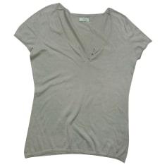 Top, t-shirt DES PETITS HAUTS Beige, cammello