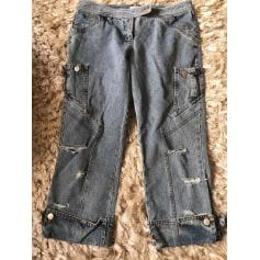 Pantalon droit ANTONIO BERARDI Bleu, bleu marine, bleu turquoise