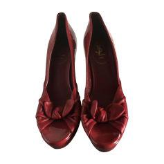 Peep-Toe Pumps YVES SAINT LAURENT Messenger Red, burgundy