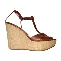 Wedge Sandals SALVATORE FERRAGAMO Brown