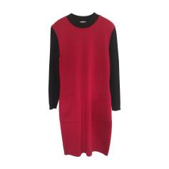 Midi Dress YVES SAINT LAURENT Red, burgundy