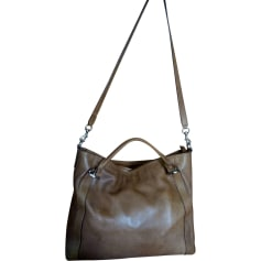 Leather Handbag GUCCI Indy Brown