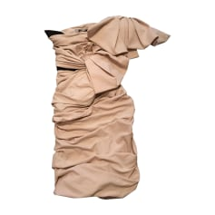 Mini Dress LANVIN Beige, camel