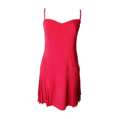 Midi Dress VERSACE Red, burgundy