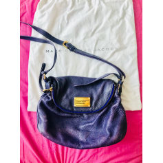 Leather Shoulder Bag Purple, mauve, lavender