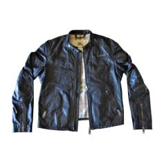 Leather Zipped Jacket BURBERRY Black