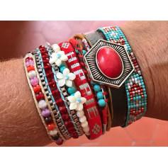 Bracelet HIPANEMA Rouge, bordeaux