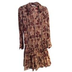 Robe courte BA&SH Rose, fuschia, vieux rose