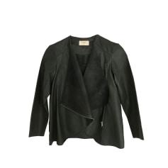 Leather Jacket BA&SH Khaki