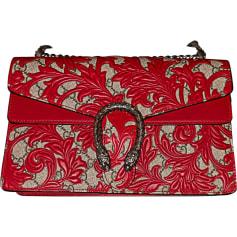 Leather Handbag GUCCI Dionysus Red, burgundy