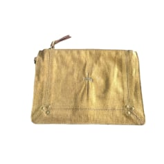 Clutch JEROME DREYFUSS Golden, bronze, copper