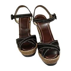 Wedge Sandals CHRISTIAN LOUBOUTIN Black