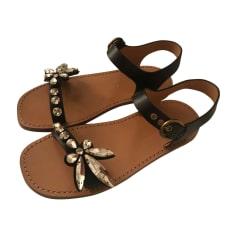 Sandales plates  MARC JACOBS Noir