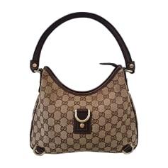 Non-Leather Handbag GUCCI Brown