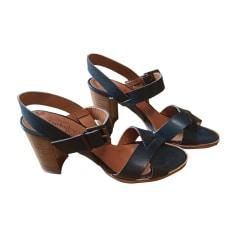 Sandales à talons ANTHOLOGY PARIS Bleu, bleu marine, bleu turquoise