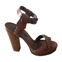 Heeled Sandals RALPH LAUREN Brown