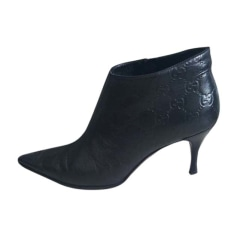High Heel Ankle Boots GUCCI Black
