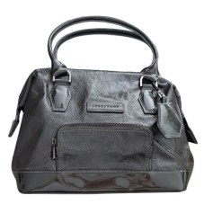 Leather Handbag LONGCHAMP Gray, charcoal